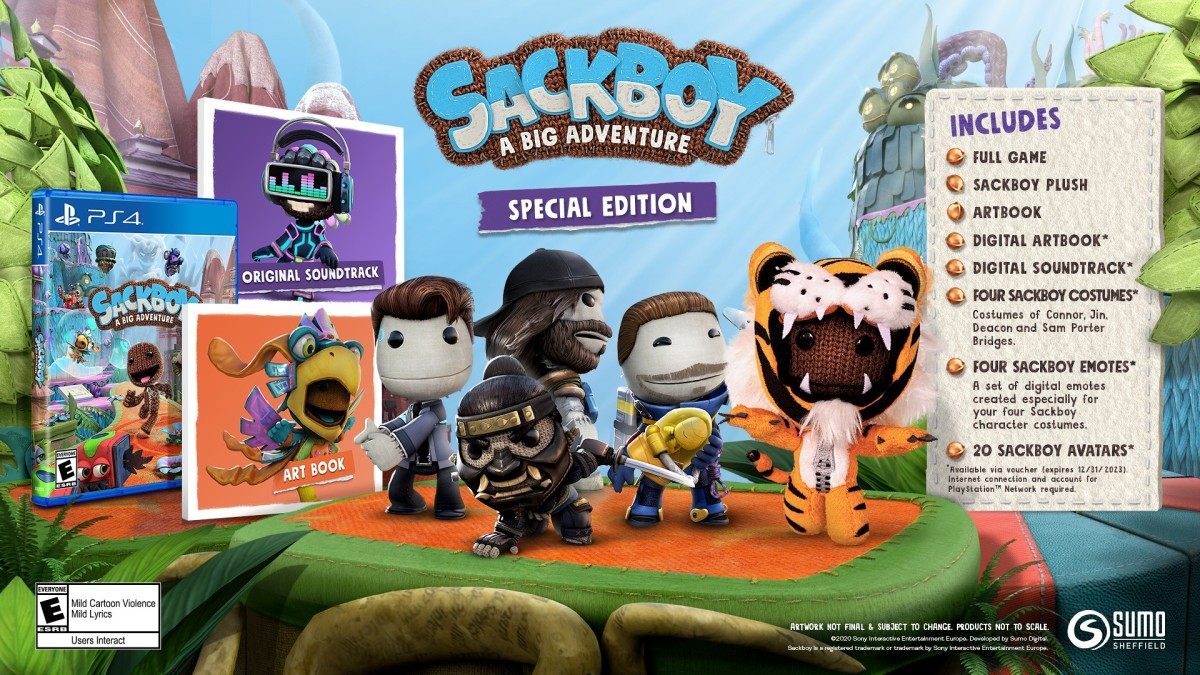 PlayStation Franchise Skins Included & Free PS5 Upgrade Announced for Sackboy: A Big Adventure's SpecialEdition